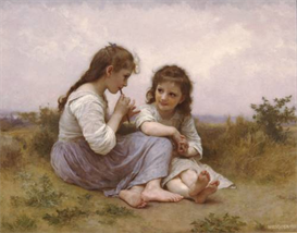 Image Photo A Childhood Idyll 1900 Bouguereau | Photos and Images | Vintage