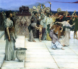 Image Photo A consecration of Bacchus, detail [1] Alma-Tadema | Photos and Images | Vintage