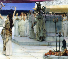 Image Photo A consecration of Bacchus, detail [2] Alma-Tadema | Photos and Images | Vintage