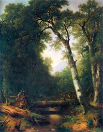 Image Photo A creek in the woods Asher Brown Durand | Photos and Images | Vintage