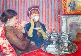 Image Photo A cup of tea #2 Cassatt | Photos and Images | Vintage