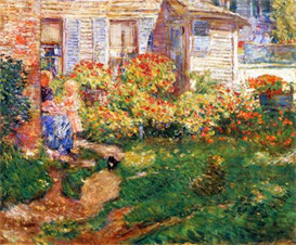 Image Photo A fishing hut, Gloucester Hassam Impressionism American | Photos and Images | Vintage