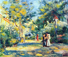 image photo a garden in montmartre renoir