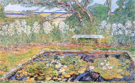 Image Photo A garden on Long Island Hassam Impressionism American | Photos and Images | Vintage