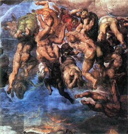 Image Photo A group fighting Damned Michelangelo | Photos and Images | Vintage