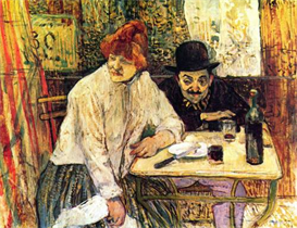 Image Photo A la Mie in the Restaurant Toulouse-Lautrec | Photos and Images | Vintage
