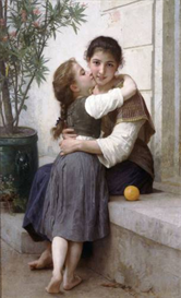 Image Photo A Little Coaxing 1890 Bouguereau | Photos and Images | Vintage