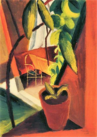 Image Photo A look into summer-house August Macke Expressionism | Photos and Images | Vintage
