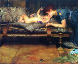 Image Photo A paradise on earth, detail Alma-Tadema | Photos and Images | Vintage
