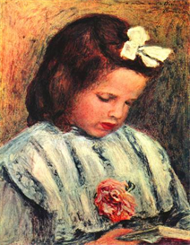 Image Photo A reading girl Renoir | Photos and Images | Vintage