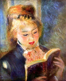 Image Photo A reading girl1 Renoir | Photos and Images | Vintage