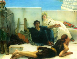 Image Photo A reading of Homer, detail [1] Alma-Tadema | Photos and Images | Vintage