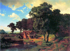 Image Photo A rustic mill Bierstadt | Photos and Images | Vintage