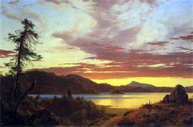 Image Photo A Sunset Frederick Edwin Church | Photos and Images | Vintage