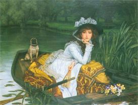 Image Photo A young woman in a boat Tissot | Photos and Images | Vintage