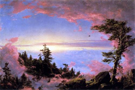 Image Photo Above the clouds at sunrise Frederick Edwin Church | Photos and Images | Vintage