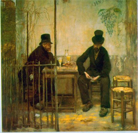 Image Photo Absinthe Drinkers Raffaelli Impressionism | Photos and Images | Vintage