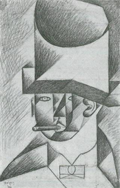 Image Photo Abstract Royalty Free Image Head of a man with cigar Juan Gris Abstract Art | Photos and Images | Vintage