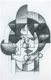 Image Photo Abstract Royalty Free Image Head of Germaine Raynal Juan Gris Abstract Art | Photos and Images | Vintage