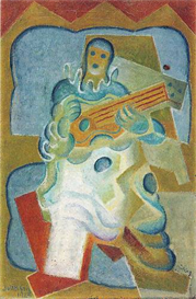 Image Photo Abstract Royalty Free Image Pierrot playing guitar Juan Gris Abstract Art | Photos and Images | Vintage