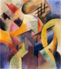 Image Photo Abstract Royalty Free Image Small composition I Franz Marc Abstract Art | Photos and Images | Vintage