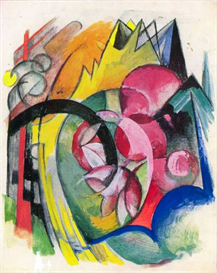 Image Photo Abstract Royalty Free Image Small composition II Franz Marc Abstract Art | Photos and Images | Vintage