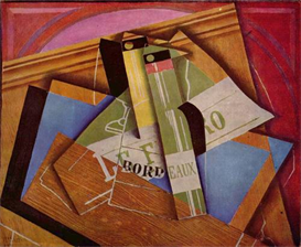 Image Photo Abstract Royalty Free Image Still Life with Bordeau Winde Juan Gris Abstract Art | Photos and Images | Vintage