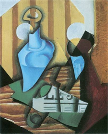 Image Photo Abstract Royalty Free Image Still Life with bottle and glass Juan Gris Abstract Art   Photos and Images   Vintage