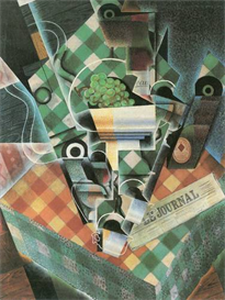 Image Photo Abstract Royalty Free Image Still Life with checked tablecloth Juan Gris Abstract Art | Photos and Images | Vintage