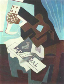 Image Photo Abstract Royalty Free Image Still Life with guitar book and newspaper  Juan Gris Abstract Art | Photos and Images | Vintage