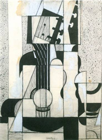 Image Photo Abstract Royalty Free Image Still Life with guitar Juan Gris Abstract Art | Photos and Images | Vintage
