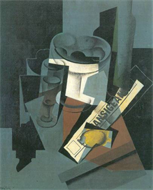 Image Photo Abstract Royalty Free Image Still Life with Newspaper Juan Gris Abstract Art | Photos and Images | Vintage