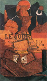 Image Photo Abstract Royalty Free Image Tobacco newspaper and wine bottle Juan Gris Abstract Art | Photos and Images | Vintage