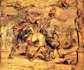 Image Photo Achilles defeats Hector Rubens | Photos and Images | Vintage
