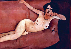 Image Photo Act on a sofa (Almaiisa) Modigliani | Photos and Images | Vintage
