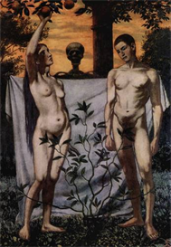 Image Photo Adam and Eve Hans Thoma Symbolism | Photos and Images | Vintage