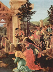 Image Photo Adoration of the Magi (Washington) Detail 2 Botticelli | Photos and Images | Vintage