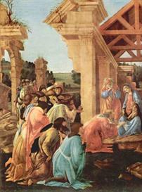 Image Photo Adoration of the Magi (Washington) Detail Botticelli | Photos and Images | Vintage