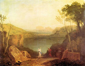 Image Photo Aeneas and  Cybelle at Lake Avernus Joseph Mallord Turner | Photos and Images | Vintage