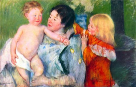 Image Photo After the bath Cassatt | Photos and Images | Vintage