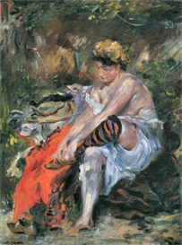 Image Photo After the Bath Lovis Corinth Impressionism European | Photos and Images | Vintage