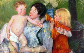 Image Photo After the bath Mary Cassatt Impressionism | Photos and Images | Vintage
