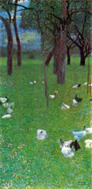 Image Photo After the rain (garden with chickens in St. Agatha) Klimt | Photos and Images | Vintage