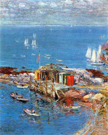 Image Photo Afternoon in August, Appledore Hassam Impressionism American | Photos and Images | Vintage