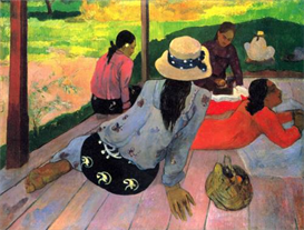 Image Photo Afternoon Quiet Hour Gauguin Impressionism | Photos and Images | Vintage