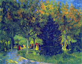 Image Photo Allee in the Park  Van Gogh | Photos and Images | Vintage