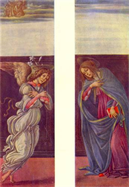 Image Photo Altar of the youngest - Annunciation Botticelli | Photos and Images | Vintage