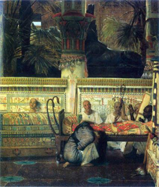 Image Photo An Egyptian widow at the time of Diocletian, detail Alma-Tadema | Photos and Images | Vintage