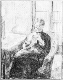 Image Photo An old woman knitting Cassatt | Photos and Images | Vintage