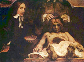 Image Photo Anatomical lecture of Dr. Deyman, Fragment Rembrandt | Photos and Images | Vintage